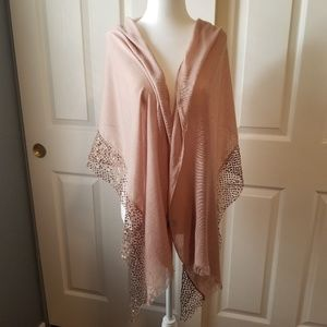 Simply Vera Wang sequined over sized sheer scarf